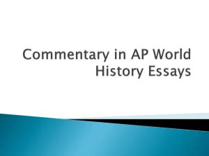 The APUSH DBQ Updated for 2017 Rubric